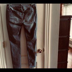 Cabi-gray zip skinny jeans-size 6